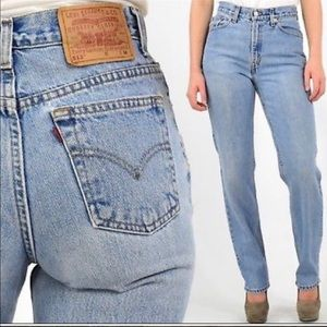 Levi's Vintage 512 High-Waisted Mom Jeans - 10